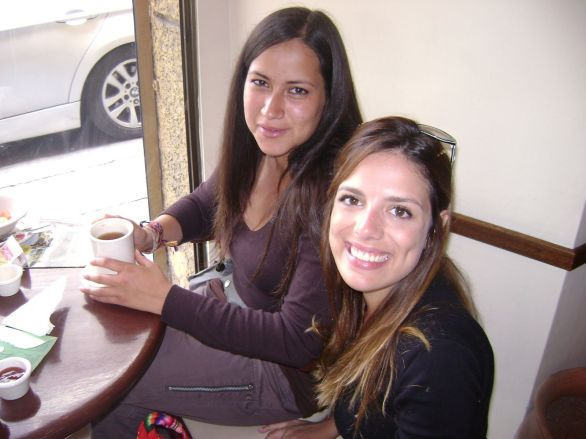 A italiana Paola em La Paz