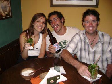 O israelense Avi e o australiano Ciaran em Sucre