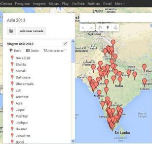 Minha Índia em alfinetes!