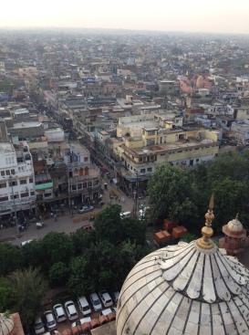 Old Delhi na visão do minarete.